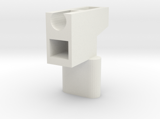 LGS - Handle Adapter (PE Version) in White Strong & Flexible