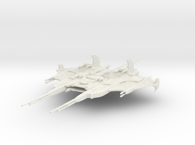 CR Battlecruiser in White Natural Versatile Plastic