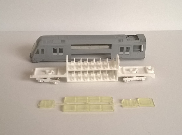 N04A - Waratah Cab Chassis - Part B in White Strong & Flexible