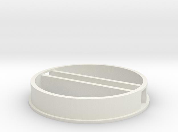 'N Scale' - 48' Dia. Bin - Foundation w/ Tunnel in White Natural Versatile Plastic