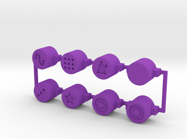 PO-20 control buttons in Purple Processed Versatile Plastic