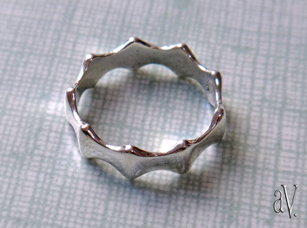 Bump Ring in Polished Silver: 6 / 51.5