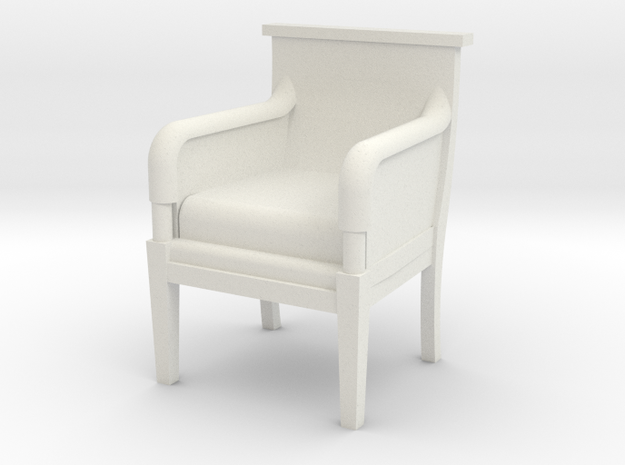 Period Armchair in White Natural Versatile Plastic