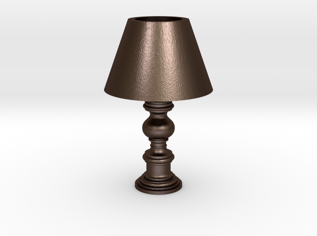 Period Lamp in Matte Bronze Steel