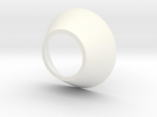 Mini BR Neck Cone I in White Processed Versatile Plastic