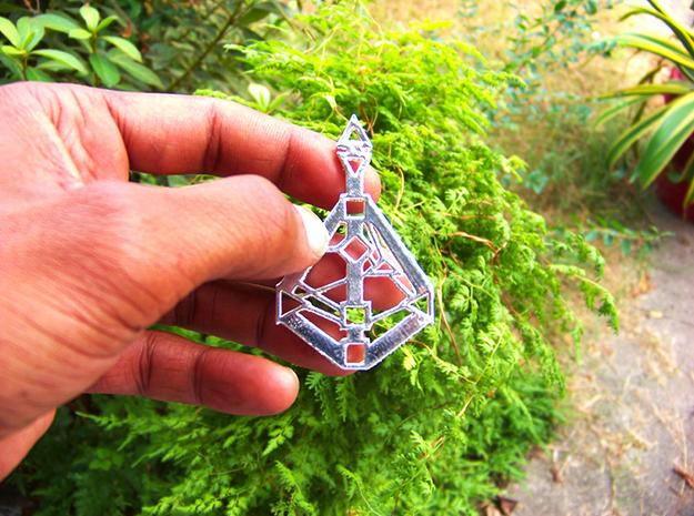 Human-Design 9-Chakra pendant in Matte Black Steel