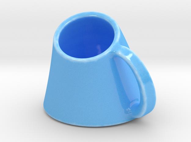 Torse in Gloss Blue Porcelain