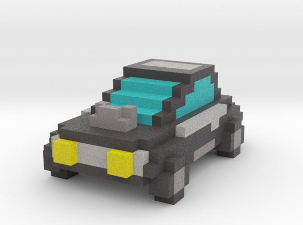Voxel Car Type 1 in Full Color Sandstone