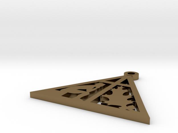Camp Susque Logo Pendant in Polished Bronze