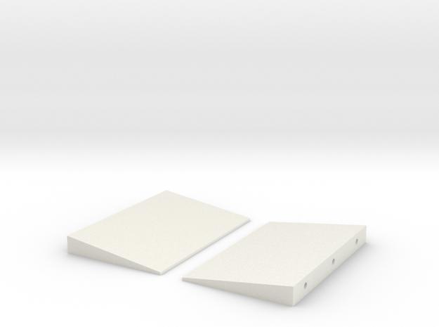 1/64 Platform Ramps in White Natural Versatile Plastic