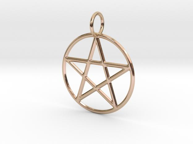 Pentacle Pendant in 14k Rose Gold