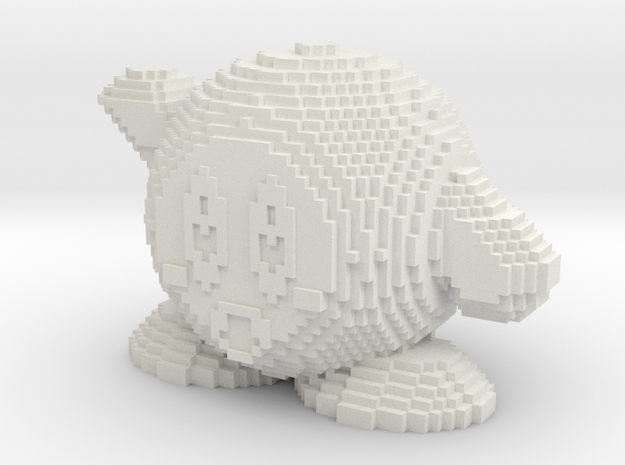 Minecraft Kirby in White Strong & Flexible