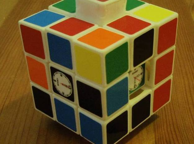 4D-Time Cube Full set in White Natural Versatile Plastic