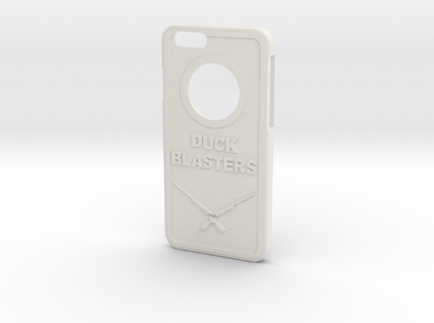 Duck Blaster Iphone 6 Case in White Strong & Flexible
