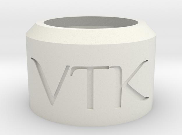 Vertek Single 'Smoke Ring Toy' by Adolist in White Natural Versatile Plastic