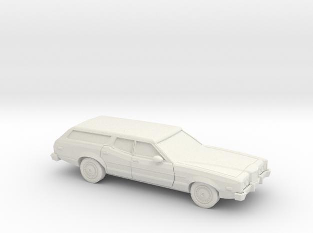 1/87 1972 Mercury Montego Station Wagon in White Natural Versatile Plastic