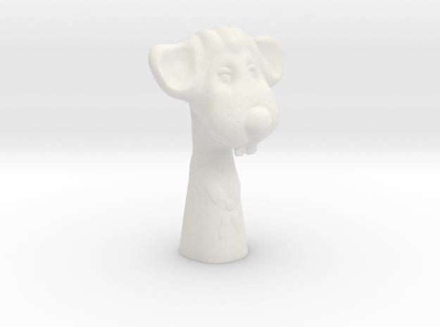 Decorative mouse figurine in White Natural Versatile Plastic