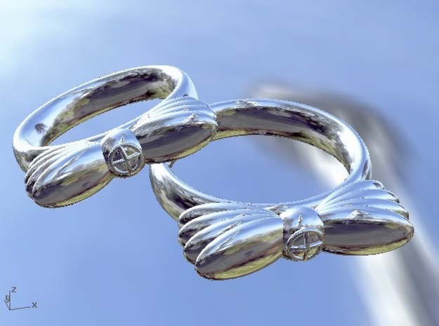 Wings In Motion, UK Size K (US Size 5¼)   in Fine Detail Polished Silver