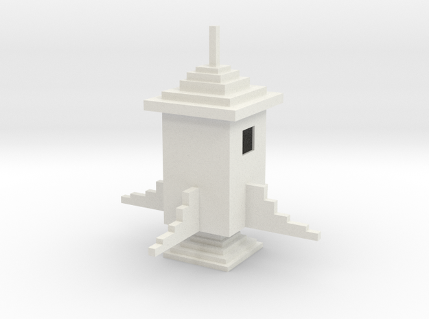 Minecraft Rocket in White Natural Versatile Plastic