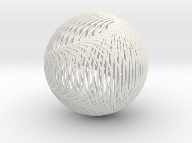 Cardioid sphere 2 in White Natural Versatile Plastic