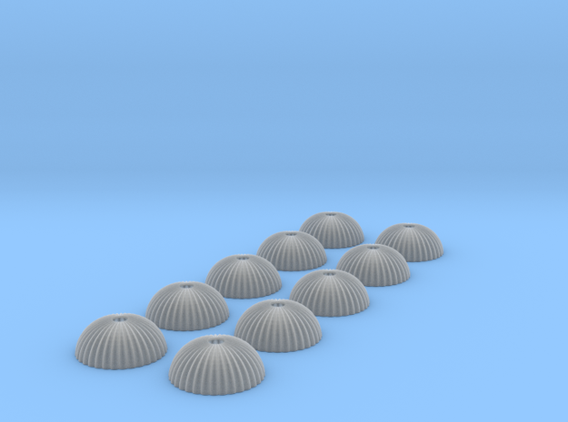 1/500 scale army parachute para Fallschirm 10 of in Smooth Fine Detail Plastic