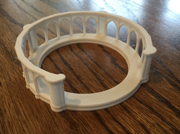 "3-1/4"" Coaster Holder Short in White Processed Versatile Plastic"