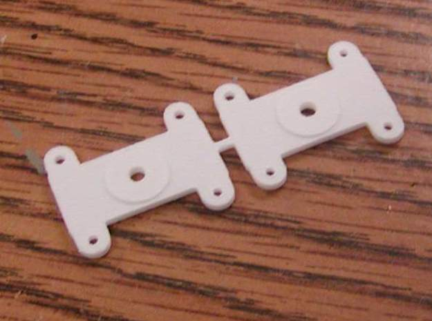 Top mount Bolster for Walthers LW 3 axle truck in White Natural Versatile Plastic
