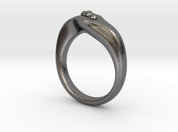 Modern style ring Size 10 in Polished Nickel Steel