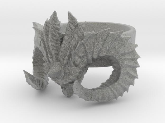 Diablo Ring (size - 2) in Metallic Plastic