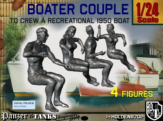 1-24 Recreation Boat Couple Set 1