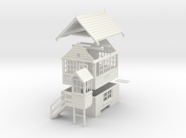 CH71 - Cheddleton Signal box in White Natural Versatile Plastic