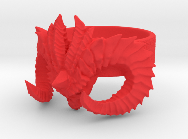 Diablo Ring Size 4 in Red Strong & Flexible Polished