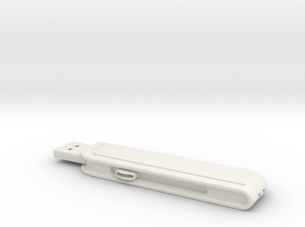 Flashdrive 2GB in White Natural Versatile Plastic