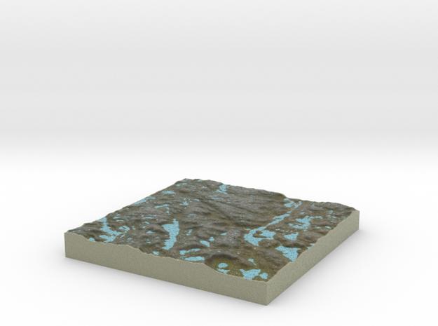 Terrafab generated model Sun Apr 03 2016 07:35:42  in Full Color Sandstone