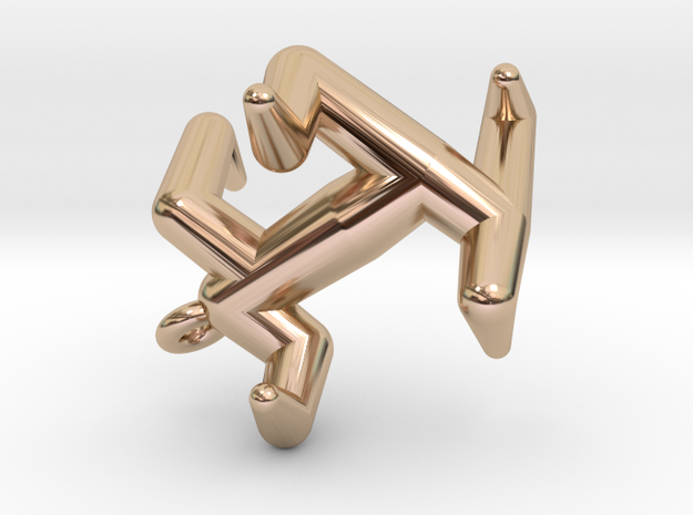 Y4 Pendant in 14k Rose Gold Plated Brass