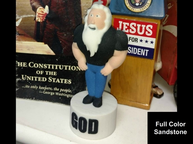 FB God Statue in Full Color Sandstone