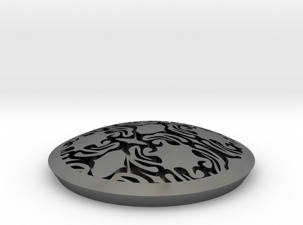 Rorschach concho in Polished Silver