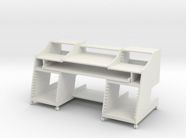 Music Desk 2 1:12 Scale  in White Natural Versatile Plastic