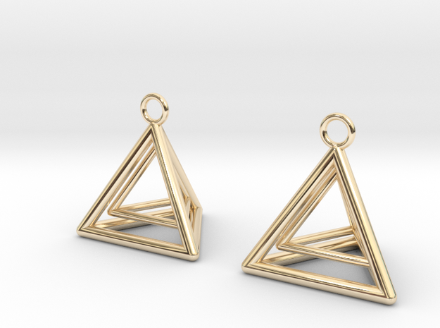 Pyramid triangle earrings type 9