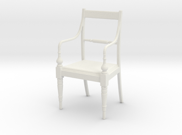 Chair With Arms in White Natural Versatile Plastic