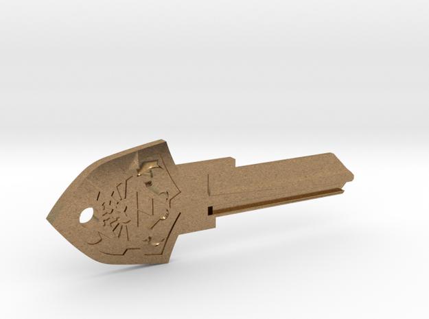 Zelda Shield House Key Blank - KW11/97 in Raw Brass