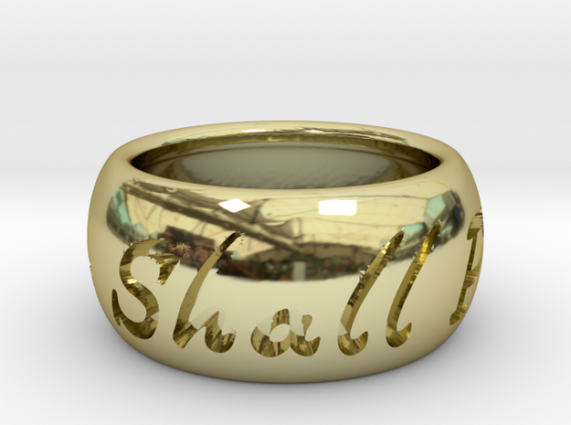 This Too Shall Pass ring size 5 in 18k Gold Plated