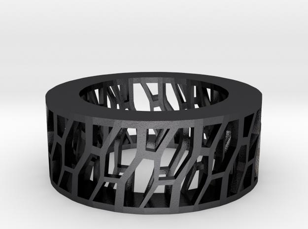 Framework Ring- Intrincate Simple in Polished Grey Steel