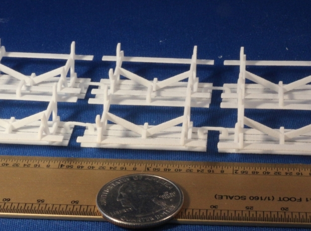 Picnic Tables S Scale X6 3d printed