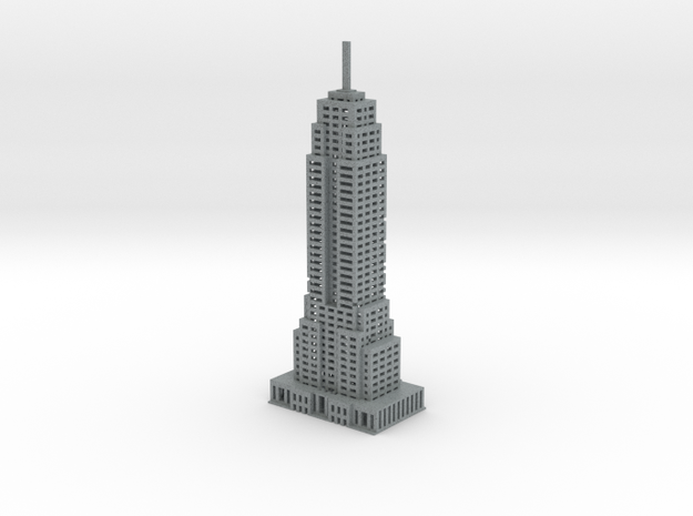 Final Empire State Building in Polished Metallic Plastic