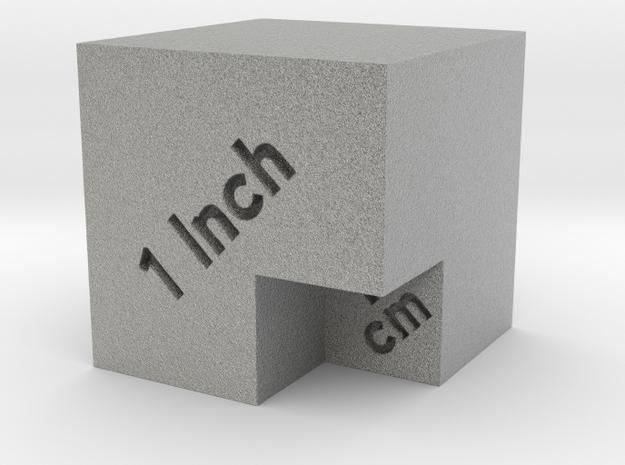 Scale Cube for photos in Metallic Plastic