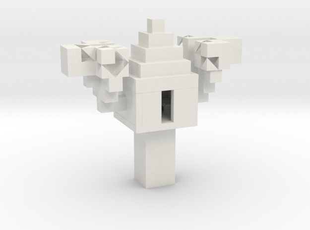 Minecraft 3D Model Treehouse in White Strong & Flexible