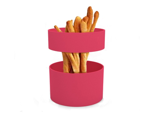 "Snack dish ""Magic loops"" in White Strong & Flexible"