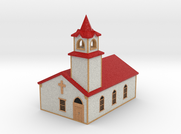 Country Church - Zscale in Full Color Sandstone