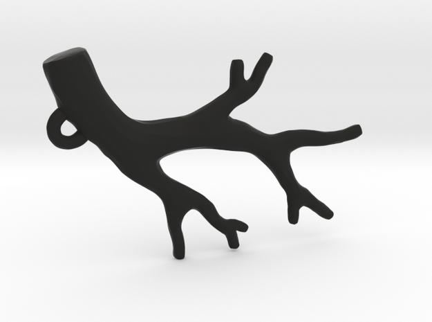 Branch Pendant- Simple in Black Natural Versatile Plastic